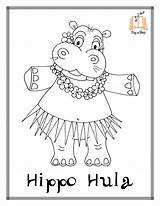 Coloring Pages Hippo Hula Printable Sing Story Hustle Sheets Christmas Chicken Disegni Cha Song Therapy Books sketch template