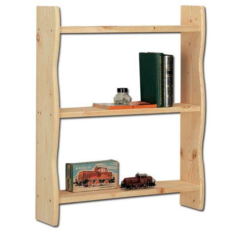 libreria legno grezzo libreria da muro in legno massello grezzo di abete 60x15x70 cm