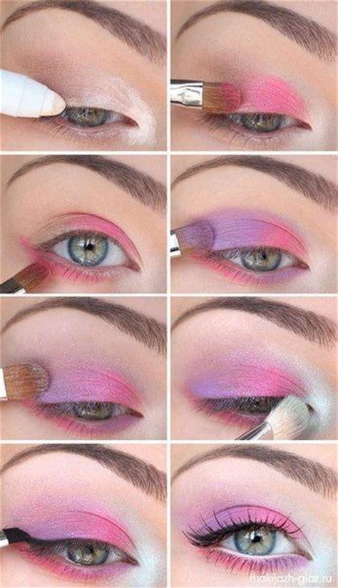 ways    pink eye makeup pretty designs