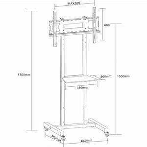 Doss Lcdp26 50kg Large Lcd  Plasma Tv Stand 175cm Height W