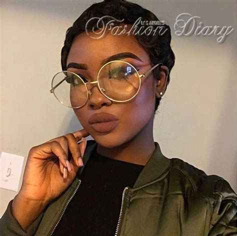 oversized clear lens glasses metal gold frame  large circle eyeglasses makeup
