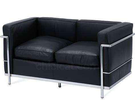 Le Corbusier by Le Corbusier Lc2 Sofa 2 Seater Petit Confort Platinum