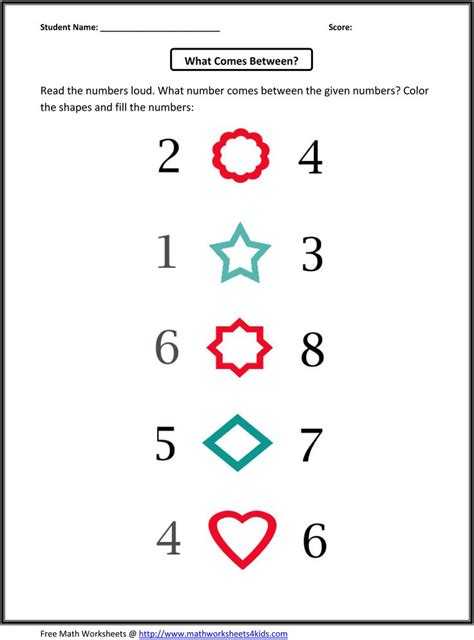 kindergarten counting worksheets 1 10 patterns worksheets picture and number pattern