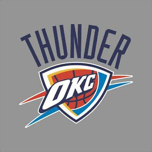 oklahoma thunder nba team logo vinyl decal sticker car