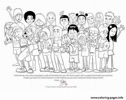 Coloring Diversity Colouring Pages Multicultural Harmony Cultural
