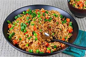 Healthy Chinese Style Instant Pot Brown Fried Rice - Paint ...  Fried
