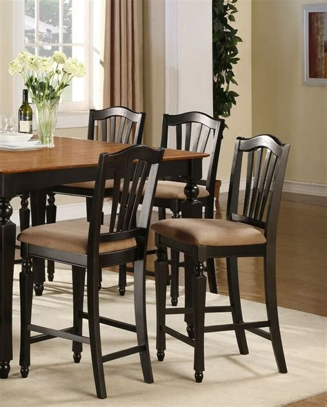 set   kitchen counter height chairs  microfiber