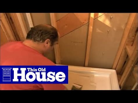 how to replace shower how to replace a shower pan this house
