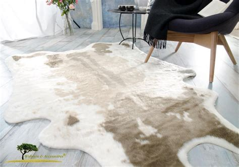 Kuhfell Teppich Kunstfell by Kuhfell Teppich Kaufen Hellbraun Aus Kunstfell Zum Top