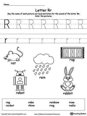 letter r worksheets for kindergarten letter r worksheet words starting with letter r myteachingstation 22799
