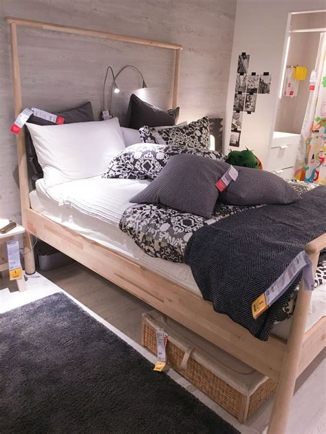 gjora birch bed  romskog rattan bed storage box