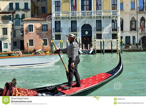 Venice Gondola Editorial Stock Photo Image Of European