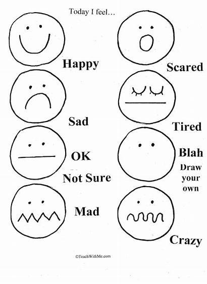 Feelings Emotions Preschool Worksheets Feeling Emotion Kindergarten