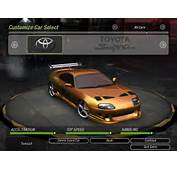 NFS Underground 2 The Fast And Furious Cars By