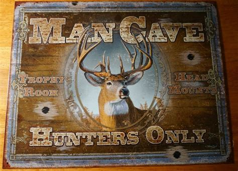 man cave hunters  deer buck hunting cabin home decor