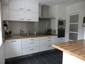 Pose Credence Verre : credence en verre pour cuisine maison design ~ Premium-room.com Idées de Décoration