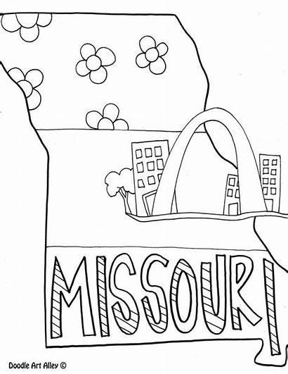 Coloring Missouri Pages Doodle Alley Social Studies