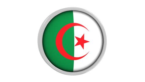 algerian flag  circular frame stock footage video