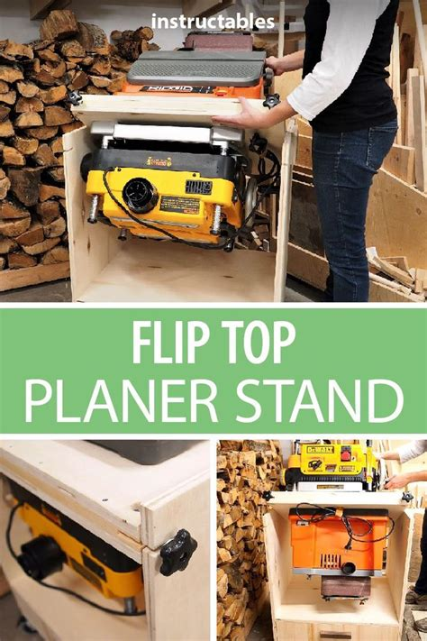 flip top planer stand  woodworking tools