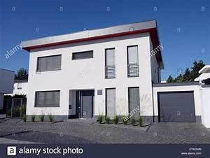 Einfamilienhaus Mit Garage : einfamilienhaus stockfotos einfamilienhaus bilder alamy ~ Eleganceandgraceweddings.com Haus und Dekorationen