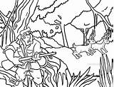 Hunting Coloring Pages Deer Hunter Printable Cool2bkids Print Getcolorings sketch template