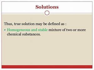 Solutions  Suspension And Colloidal System