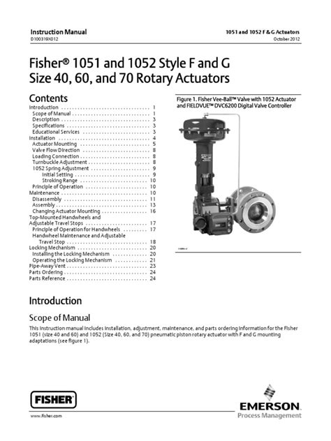 1051 and 1052 Style F and G Instruction Manual | Valve