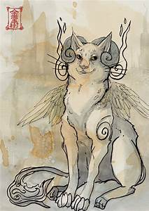Cat Demon Ink Sketch by Valhalrion on DeviantArt