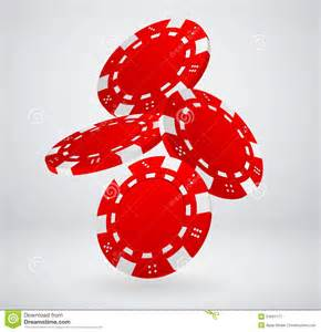 Falling Poker Chips Clip Art