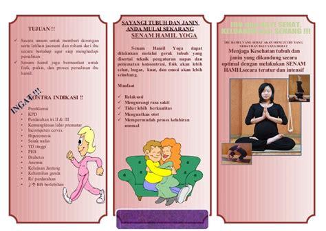 Janin Yang Sehat Leaflet Senam Hamil