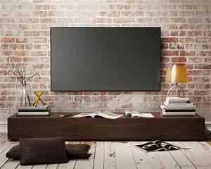 Meuble Tv Au Mur : les 25 meilleures id es de la cat gorie tv au mur sur pinterest chambres coucher magenta ~ Teatrodelosmanantiales.com Idées de Décoration