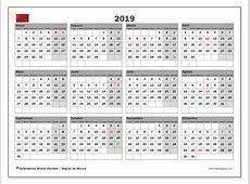 Calendario 2019, Región de Murcia Michel Zbinden es