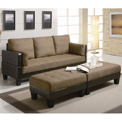 Coaster 300160 Brown Sofa Bed And Ottoman Set Steal A