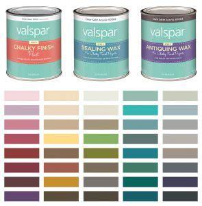valspar chalk paint color chart amulette