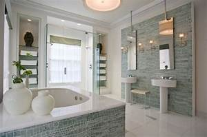 Gorgeous master bath designed by jamie drake feathering for Drakes bathrooms