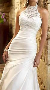 lace halter gown wedding pinterest beautiful With lace halter wedding dress