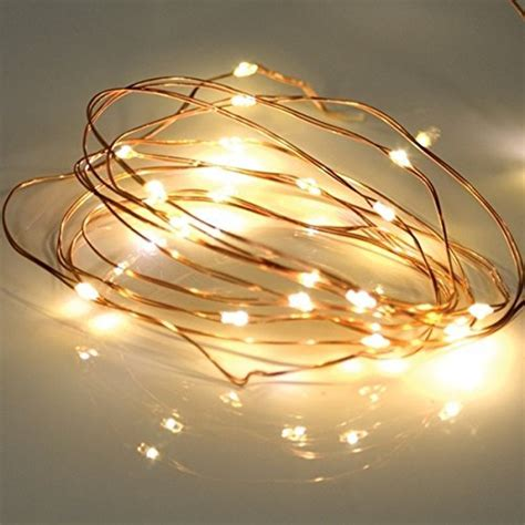 bzone led tiny micro battery string lights copper wire