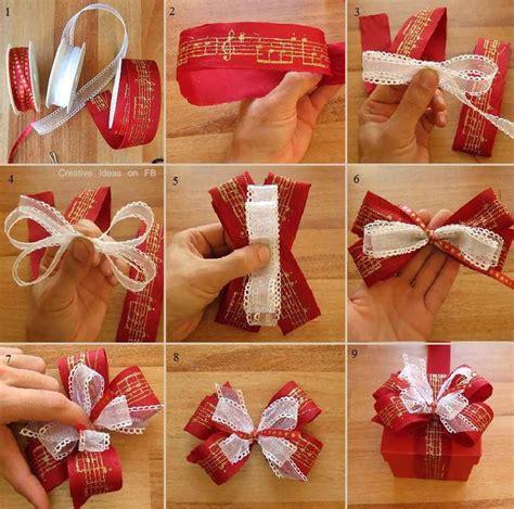 wrap  beautiful christmas bow step  step