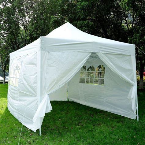xft easy folding pop  party canopy tent  sidewalls white betel canada