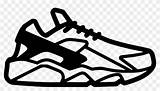 Nike Huarache Tick Coloring Svg Clipart  Comments Pngkey Pikpng Complaint Copyright sketch template