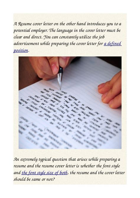 What Size Font Should A Cover Letter Be by Should Your Resume And Cover Letter Font Style And Size Match