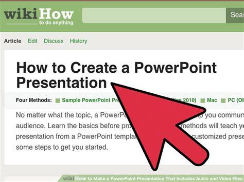 how to make a powerpoint how to make a powerpoint presentation that includes audio