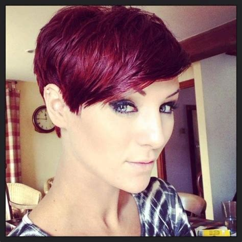 photo  burgundy short hairstyles