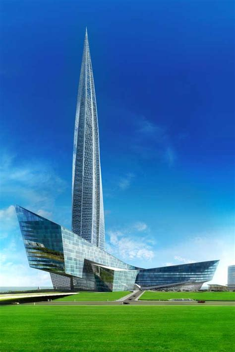lakhta centre gazprom tower st petersburg  architect