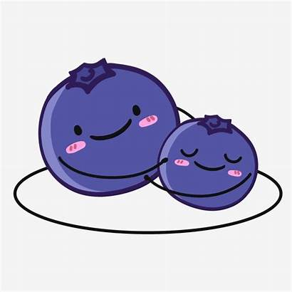 Clipart Blueberries Happy Cartoon Transparent Webstockreview Holding