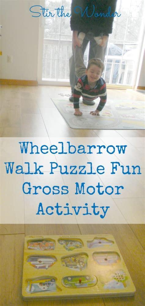 wheelbarrow walk puzzle fun gross motor activity