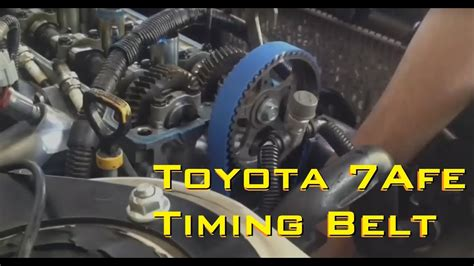 Changing The Timing Belt Corolla Afe Youtube