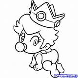 Coloring Peach Pages Baby Mario Draw Toad Rosalina Print Daisy Characters Step Peaches Printable Miracle Timeless Von Drawing Popular Super sketch template