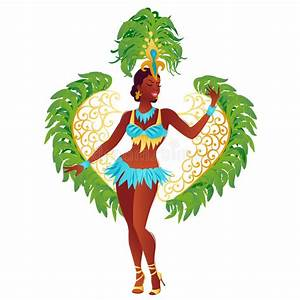 Brazilian Samba Dancer Vector. Stock Vector - Illustration ...