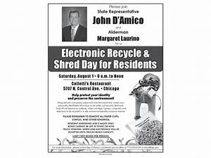 free electronic recycle and shred day skokie il patch With document shredding evanston il